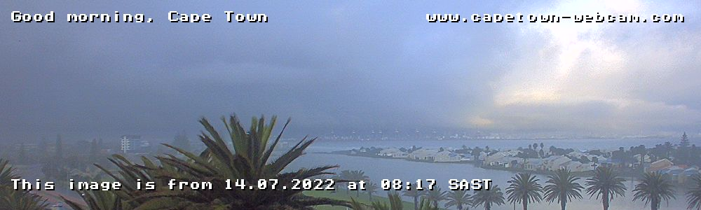 Morning in Cape Town WEBCAM